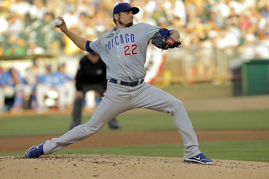 Matt Garza started the game for the Cubs. The Oakland Athletics played the Chicago Cubs at O.co Coliseum in Oakland, Calif., on Wednesday, July 3, 2013. Photo: Carlos Avila Gonzalez, The Chronicle