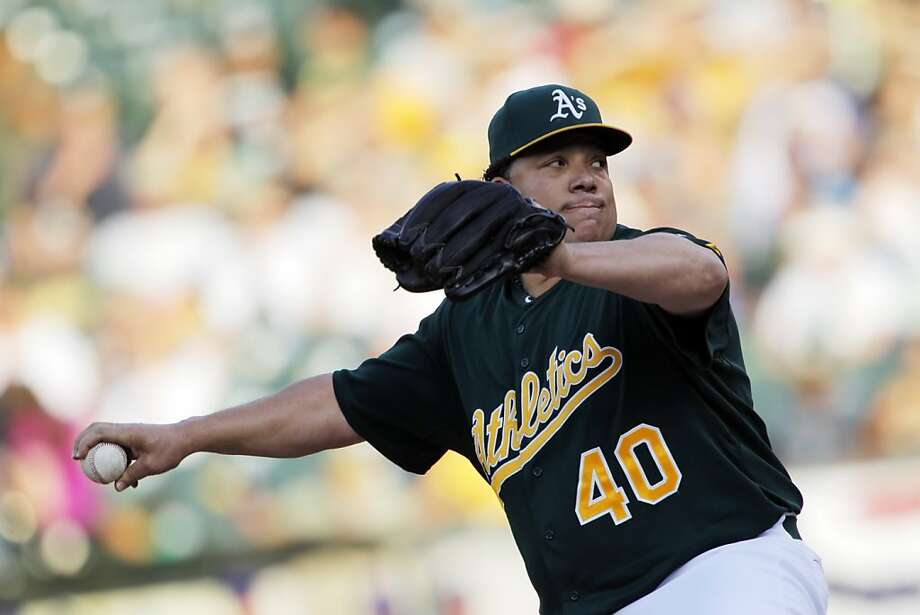 Bartolo Colon started for the A's on Wednesday. The Oakland Athletics played the Chicago Cubs at O.co Coliseum in Oakland, Calif., on Wednesday, July 3, 2013. Photo: Carlos Avila Gonzalez, The Chronicle
