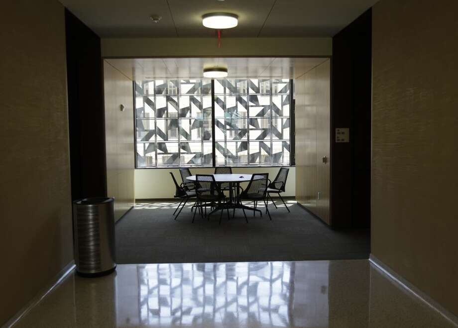 The Liberal Arts and Humanities building on Texas A&M's campus puts a focus on environmentally conscious design that includes solar striping on windows and occupancy sensors on the lighting and HVAC system.