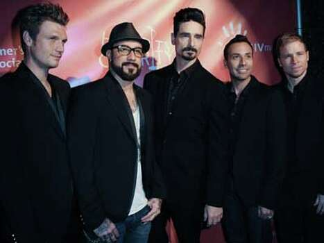 Here he is with his Backstreet Boys bandmates. Photo: Richard Shotwell, Richard Shotwell/Invision/AP / Invision