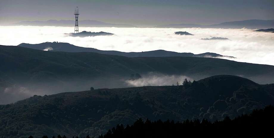 Sutro Tower as seen from Mt. Tamalpais. Photo: Kurt Rogers, The Chronicle / SFC