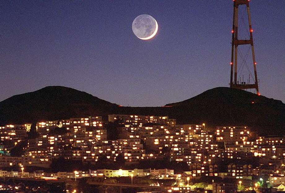 Sutro with a crescent moon. Photo: FREDERIC LARSON, SFC / CHRONICLE