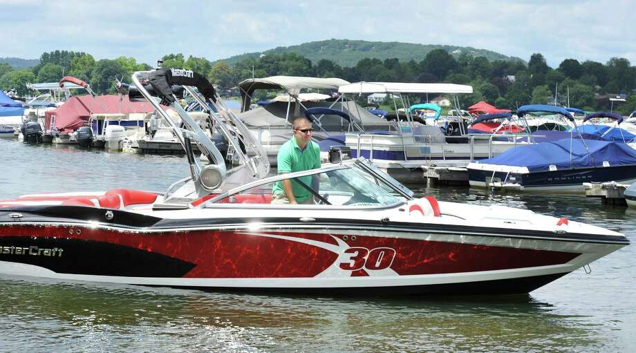 Candlewood Lake is a popular boating spot; it spans five towns and is the largest lake in the state. It's certainly not the only option, though. Here's a list of the state's marinas.  Photo: Michael Duffy / The News-Times