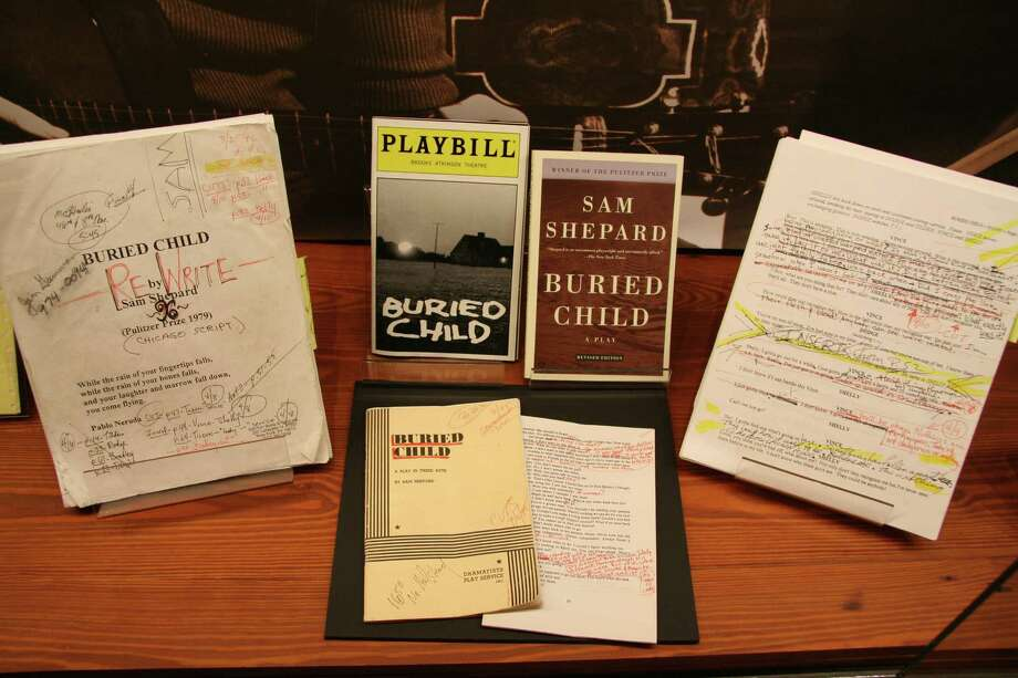 "An exhibit case devoted to ""Buried Child"" holds Sam Shepard's notes on a copy of the play. It is part of ""The Writer's Road: Selections from the Sam Shepard Papers"" in the Wittliff Collections at the Alkek Library at Texas State University, San Marcos. Photo: Courtesy Wittliff Collections"