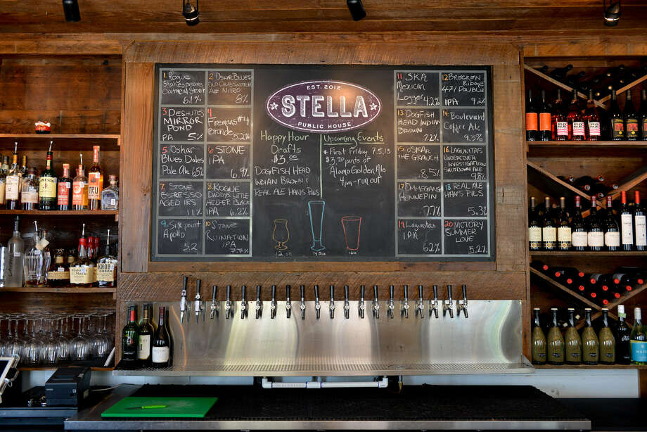 Stella Public House is located at 1414 S. Alamo and offers more than 65 types of beer and also has full bar service. It's open 4 p.m. to midnight every day.