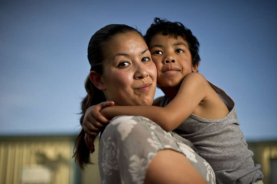 Crystal Nguyen, with son Neiko, 6, says Valley State Prison infirmary staff offered sterilizations. Photo: Noah Berger, Center For Investigative Reporti