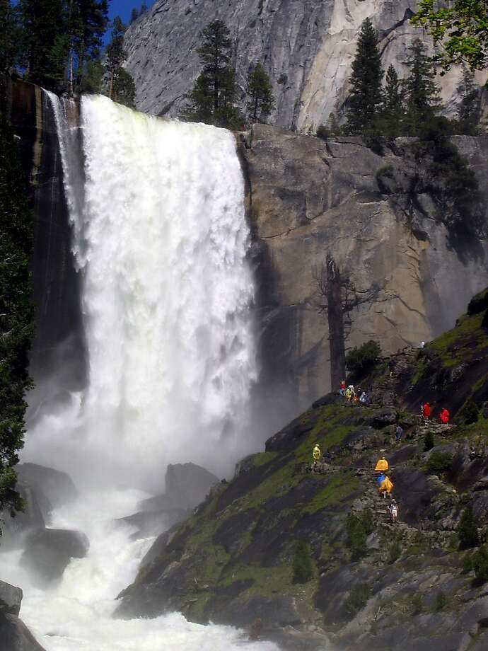 Many people who have ventured into a rushing Merced River above Vernal Fall have wound up being washed over the brink to a 300-foot fall and death.