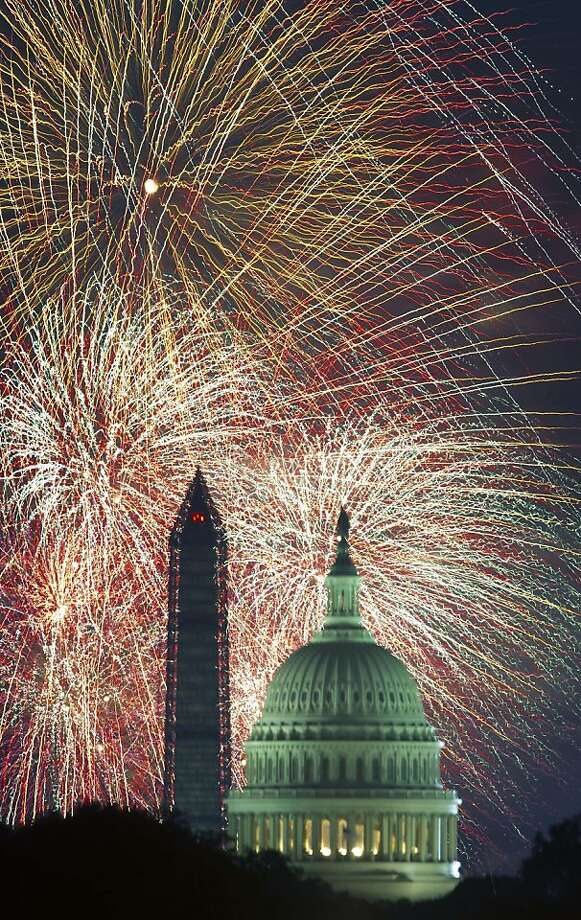 Fourth of July Independence Day fireworks are seen over the US Capitol and Washington Monument July 4, 2013 in Washington, DC     AFP Photo/Paul J. RichardsPAUL J. RICHARDS/AFP/Getty Images Photo: Paul J. Richards, AFP/Getty Images