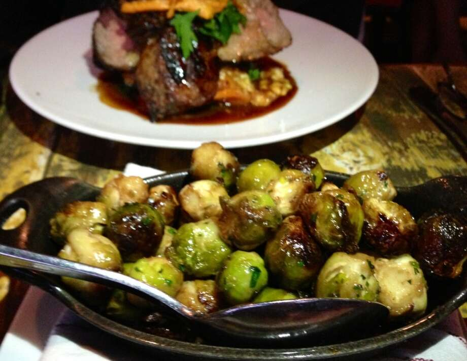 Brown butter Brussels sprouts at Marlowe