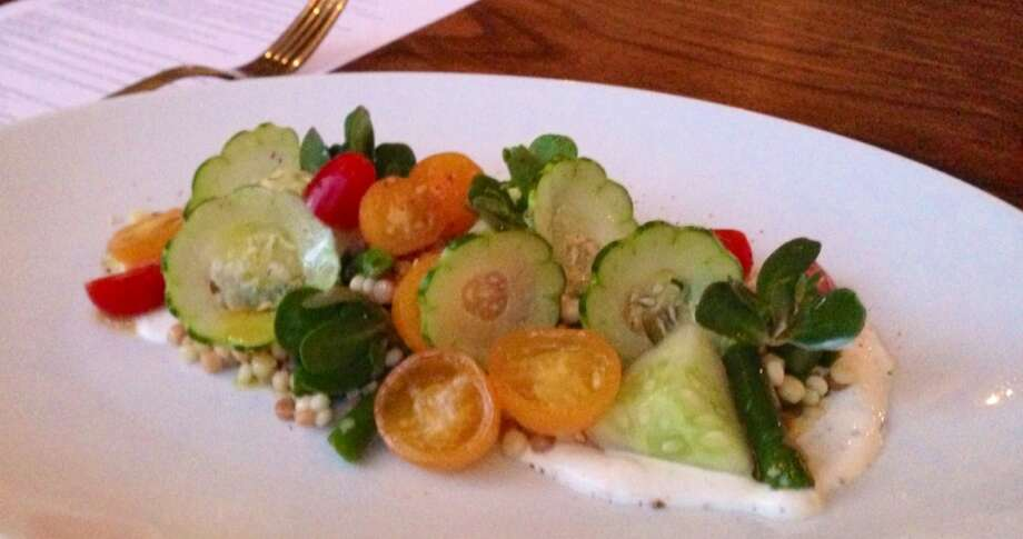 Summer salad at Farmshop in Larkspur