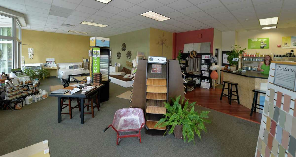 Interior view of the showroom at Green Conscience Home & Garden in Saratoga Springs, N.Y. (Skip Dickstein/Times Union)