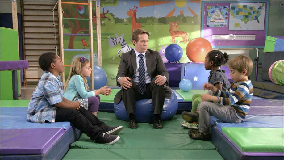 "Actor and comedian Beck Bennett talks to children in a series of AT&T commercials that carries the theme ""It's not complicated."" The series is partly scripted but mostly improvised. Photo: HANDOUT, HO / HANDOUT"