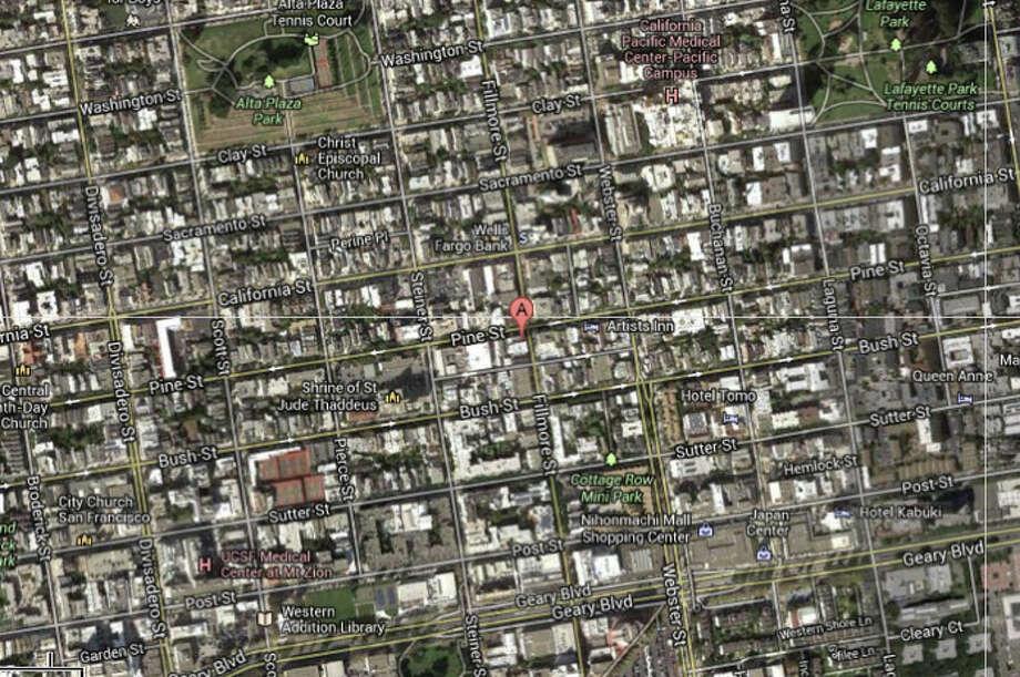 2000 block of Pine Street, San Francisco, CA Photo: CBS San Francisco