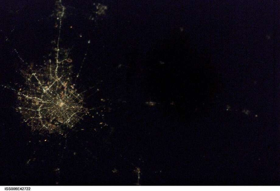 Here's San Antonio at night. (NASA image)