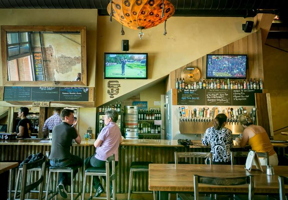 People enjoy lunch at Belly Left Coast Kitchen & Tap Room.