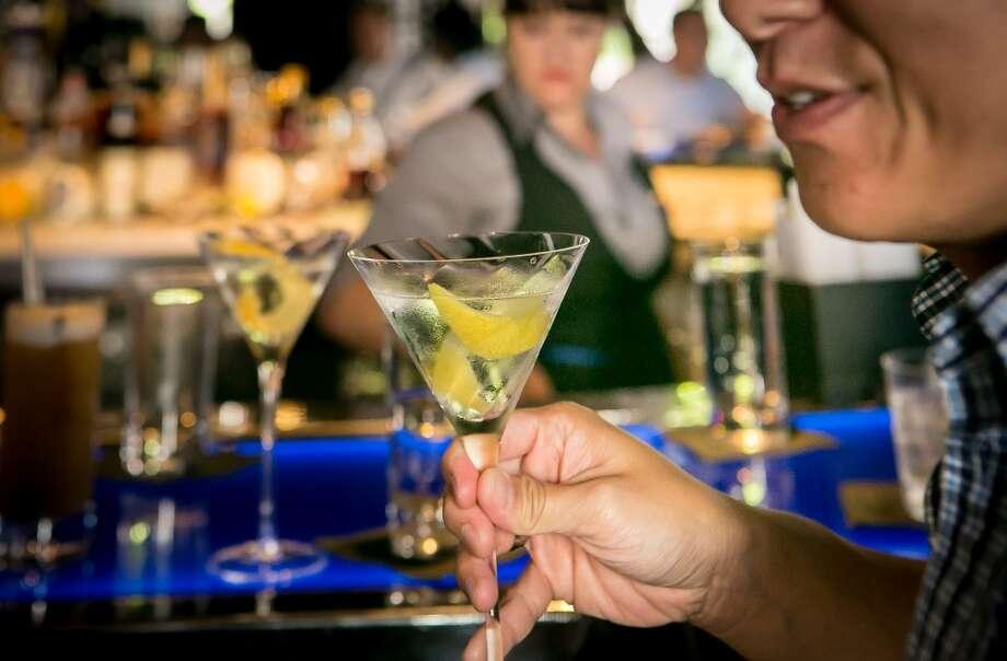 Gary Wong enjoys a Martini at Hakkasan.