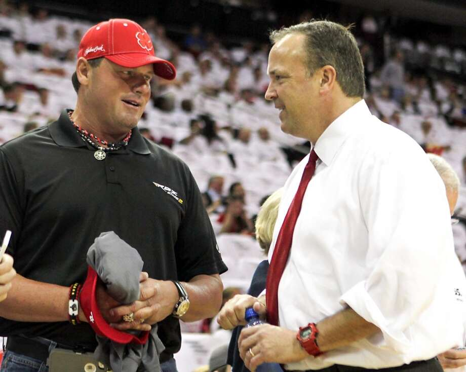 Rocekts CEO Tad Brown and former Astros pitcher Roger Clemens