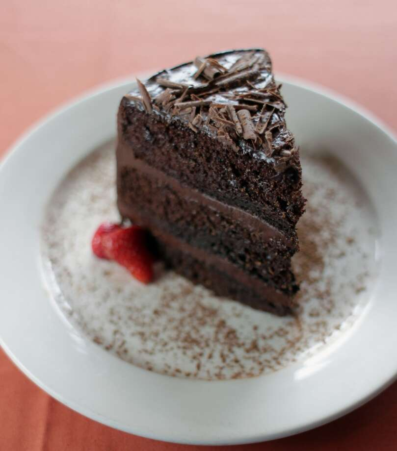 The Triple Layer Decadent Chocolate Cake at Fratelli's Ristorante.