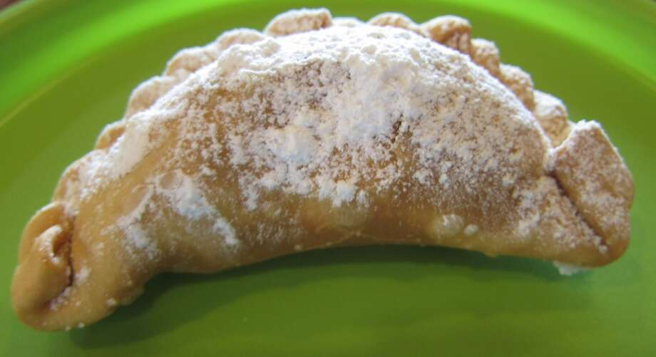 Skippy's peanut butter and Ghirardelli chocolate are a decadent combination in this empanada at Marini's Empanada House.
