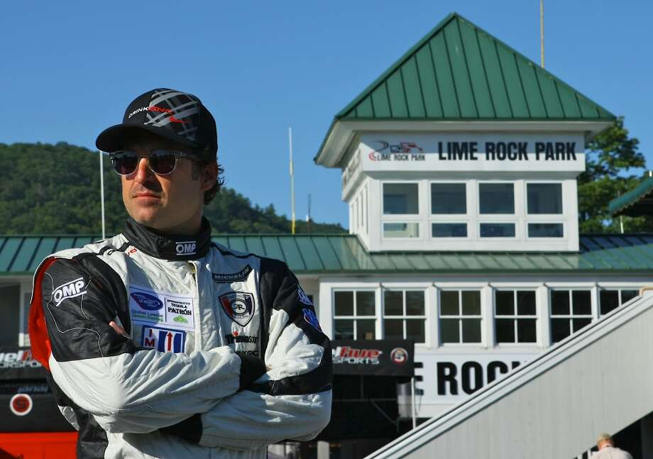 Actor and race car driver Patrick Dempsey is expected to race at Lime Rock Park on Saturday, July 6, 2013. Photo by Casey Keil/Lime Rock Park