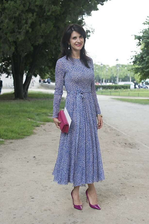 Fashion Editor for Tatler Russia wears an Alexandre Terekhov dress on day 1 of Paris Collections: Women's Haute Couture on July 01, 2013 in Paris, France.  (Photo by Kirstin Sinclair/FilmMagic) Photo: Kirstin Sinclair, FilmMagic