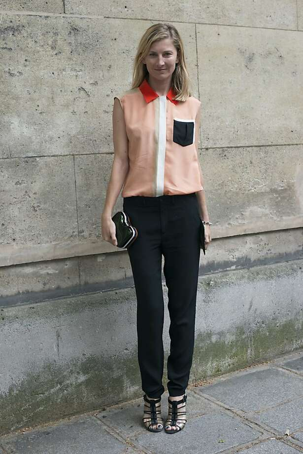 Fashion editor for Tatler magazine Elizabeth Von Goodman wears Vanessa Bruno trousers, Bottega Veneta shoes, and a Fendi bag and top on day 3 of Paris Collections: Women's Haute Couture on July 03, 2013 in Paris, France.  (Photo by Kirstin Sinclair/FilmMagic) Photo: Kirstin Sinclair, FilmMagic
