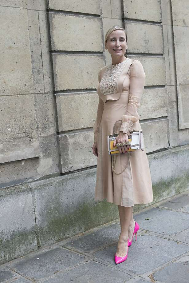 Countess Paola DâAssche wears Casa Dei shoes, and a Valentino dress and bag on day 3 of Paris Collections: Women's Haute Couture on July 03, 2013 in Paris, France.  (Photo by Kirstin Sinclair/FilmMagic) Photo: Kirstin Sinclair, FilmMagic
