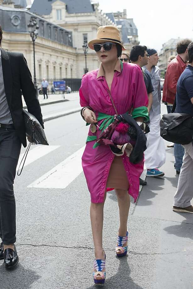 Stylist Catherine Barba on day 3 of Paris Collections: Women's Haute Couture on July 03, 2013 in Paris, France.  (Photo by Kirstin Sinclair/FilmMagic) Photo: Kirstin Sinclair, FilmMagic