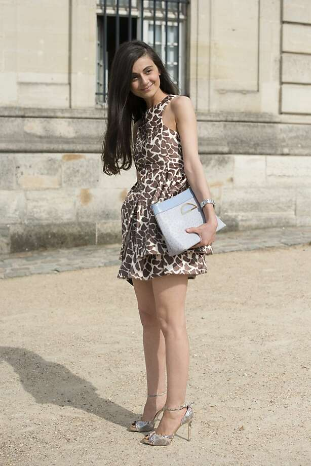 Stylist and fashion editor for Harper's Bazaar Russia Natalia Alaverdian wears a Dior bag, A.W.A.K.E dress, Stella McCartney shoes on day 1 of Paris Collections: Women's Haute Couture on July 01, 2013 in Paris, France.  (Photo by Kirstin Sinclair/FilmMagic) Photo: Kirstin Sinclair, FilmMagic