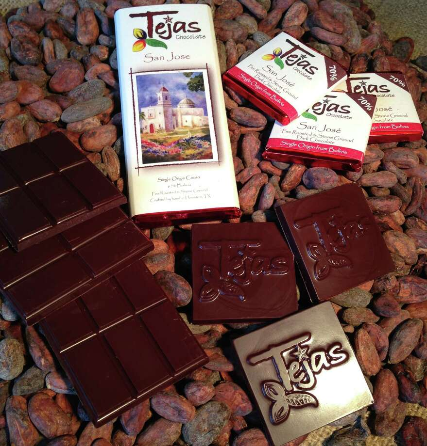 """Tejas Chocolates are made in Spring, TX. """"We hand craft chocolate using only premium cocoa beans sourced from cacao farms around the world.  Our method is uniquely Texan and inspired by traditional artisan chocolate makers. """" Photo: --"""