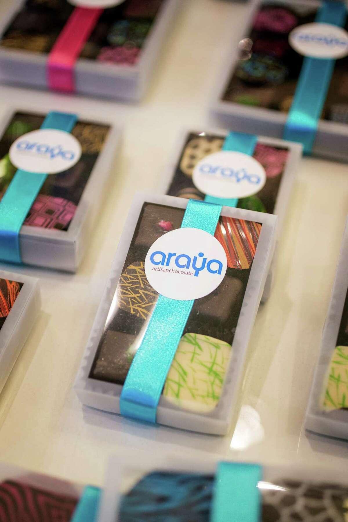 An assortment of chocolates are seen at Araya Artisanal Chocolates in River Oaks