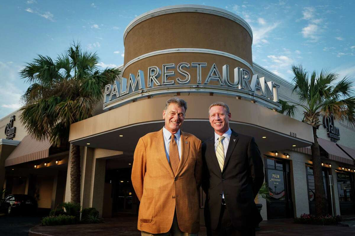 Palm executive director James Martin, left, and general manager Scott Sieck are excited about the reopening of the Galleria-area steakhouse.