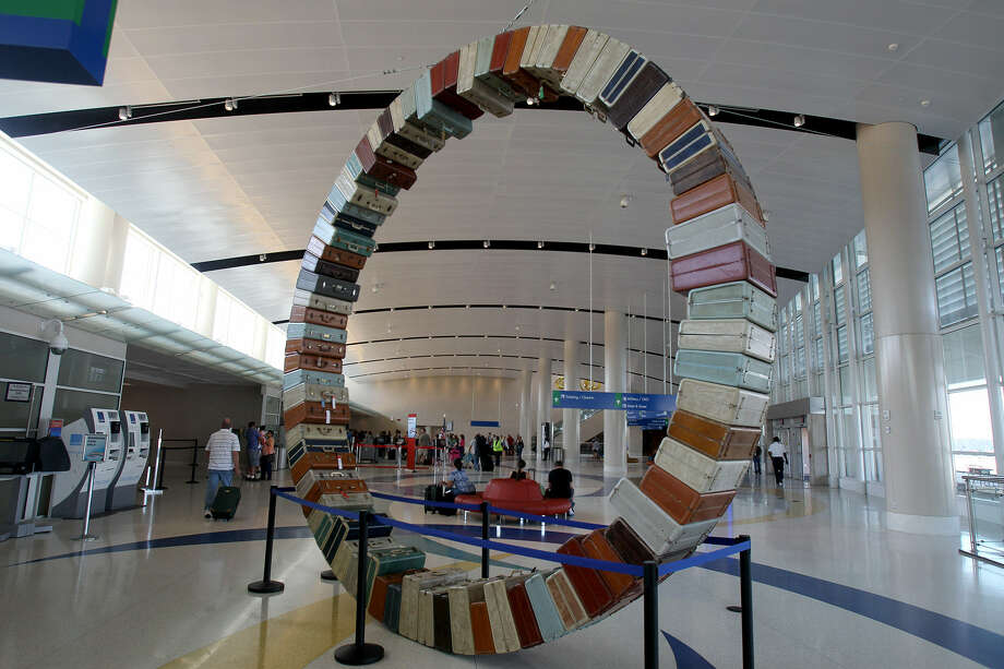 The San Antonio  International Airport has not turned into an art 