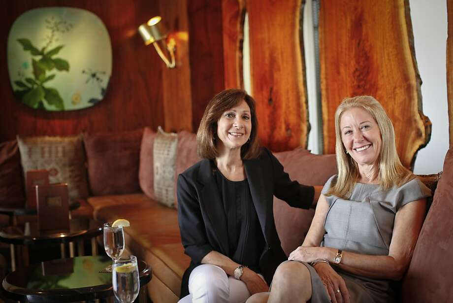 """""""Hot Flashes"""" executive producer Laurie Lacob (left), investor Meryl Selig. Photo: Russell Yip, The Chronicle"""