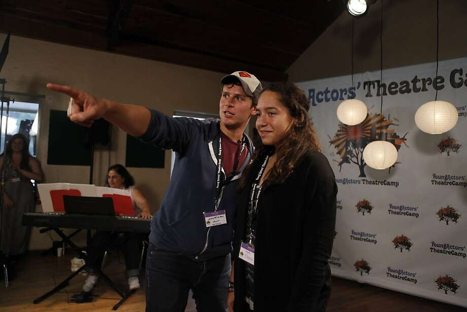 Actor Jonathan Groff instructs Elena Lipman at Young Actors' Theatre Camp in Boulder Creek (Santa Cruz County). Photo: Katie Meek, The Chronicle