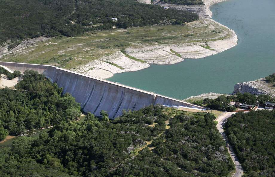 Drought conditions on Medina Lake, on Monday, July 1, 2013. The lake is currently at 5.2 percent full. Photo: Bob Owen, San Antonio Express-News / © 2012 San Antonio Express-News