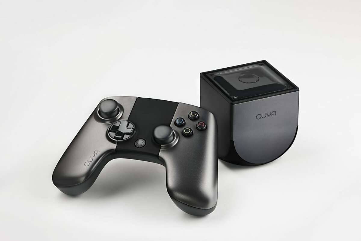 Ouya video game console with its controller.
