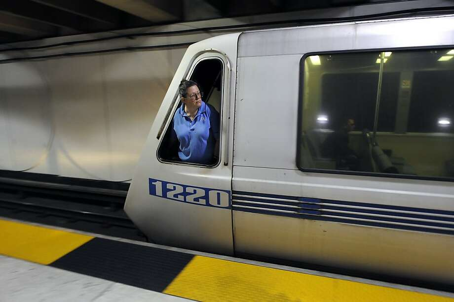 A train operator prepares to leave San Francisco's Embarcadero Station as BART service resumes during a contract extension. Photo: Michael Short, Special To The Chronicle