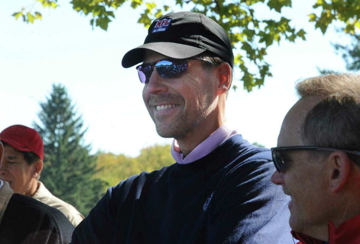 Karl Nelson, 1986 Super Bowl Champion New York Giants, at the Tim Teufel Celebrity Golf at Tamarack Country Club in Greenwich Thursday, Oct. 11, 2012. This year the tourney benefits the Fairfield County Sports Commission.