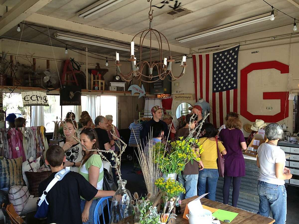 A group of 10 Marin County vendors took over an auto garage in April 2013 and opened The Garage.