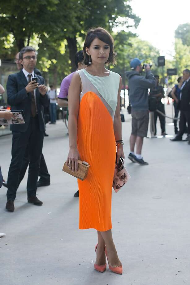 Fashion writer and Founder of Buro 247 Russia Miroslava Duma wears a Stella McCartney dress on day 1 of Paris Collections: Women's Haute Couture on July 01, 2013 in Paris, France.  (Photo by Kirstin Sinclair/FilmMagic) Photo: Kirstin Sinclair, FilmMagic