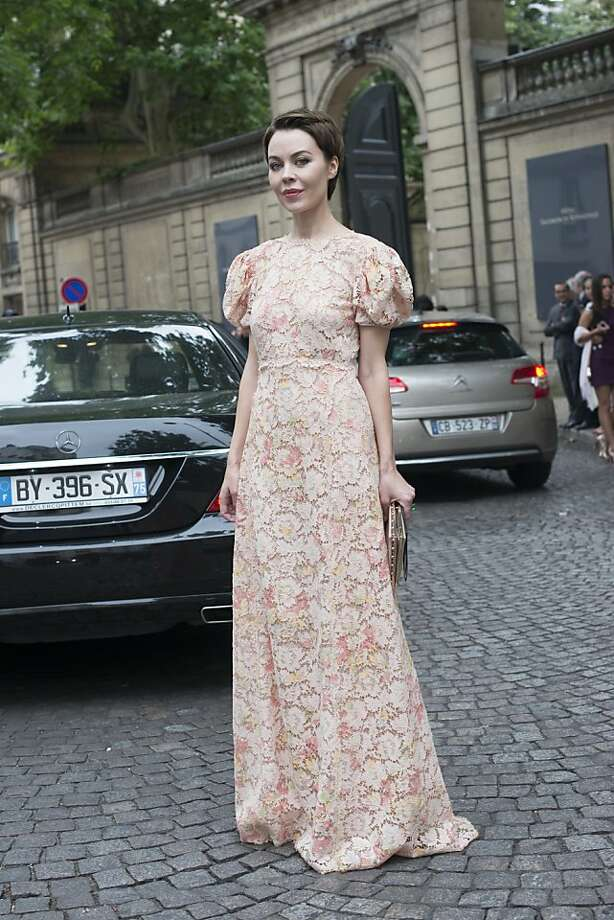 Fashion designer and photographer Ulyana Sergeenko wears Valentino on day 3 of Paris Collections: Women's Haute Couture on July 03, 2013 in Paris, France.  (Photo by Kirstin Sinclair/FilmMagic) Photo: Kirstin Sinclair, FilmMagic