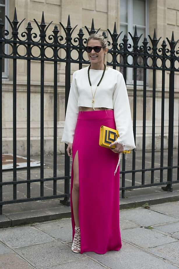 Fashion blogger Helena Bordon wears a Celine top, Lily skirt, Illesteva sunglasses, Luiza Barcelos shoes and a Maria Sole bag on day 3 of Paris Collections: Women's Haute Couture on July 03, 2013 in Paris, France.  (Photo by Kirstin Sinclair/FilmMagic) Photo: Kirstin Sinclair, FilmMagic
