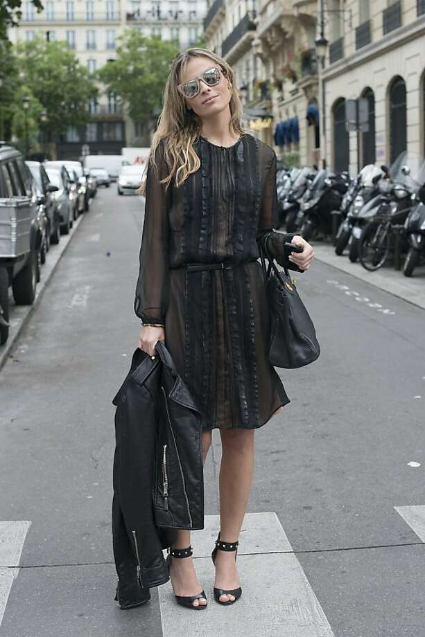 PR Wilma Helena Faissol wears a Valentino dress and shoes, Hermes bag, H and M sunglasses and a Balenciaga jacket on day 3 of Paris Collections: Women's Haute Couture on July 03, 2013 in Paris, France.  (Photo by Kirstin Sinclair/FilmMagic) Photo: Kirstin Sinclair, FilmMagic