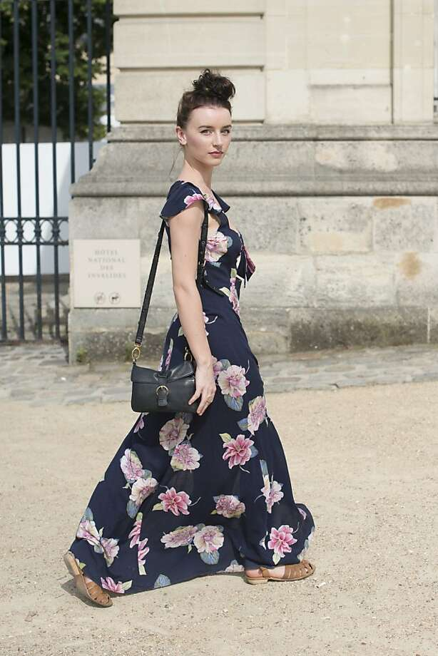 Fashion Student Elie McLean wears an Urban Outfitters dress, Cellini bag, Sports Girl shoes on day 1 of Paris Collections: Women's Haute Couture on July 01, 2013 in Paris, France.  (Photo by Kirstin Sinclair/FilmMagic) Photo: Kirstin Sinclair, FilmMagic