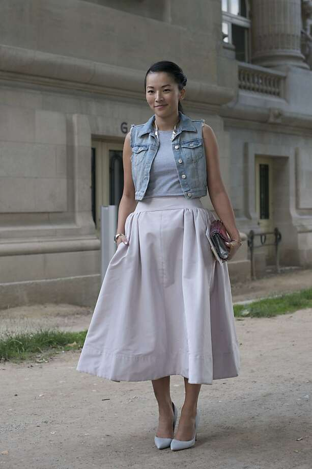 Stylist and Fashion writer Tina Leung on day 1 of Paris Collections: Women's Haute Couture on July 01, 2013 in Paris, France.  (Photo by Kirstin Sinclair/FilmMagic) Photo: Kirstin Sinclair, FilmMagic