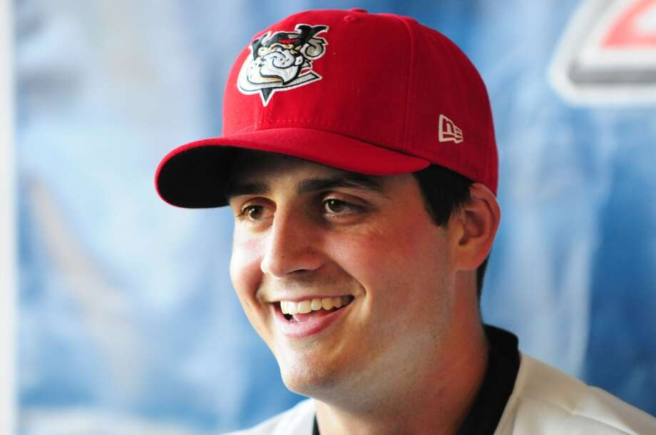 Mark Appel is introduced as a pitcher for the Tri-City ValleyCats Thursday afternoon, July 4, 2013, during a press conference at Joe Bruno Stadium in Troy, N.Y.  Appel was the first round draft pick for Houston. He'll pitch for the ValleyCats starting Friday night. Will Waldron/Times Union) Photo: Albany Times Union