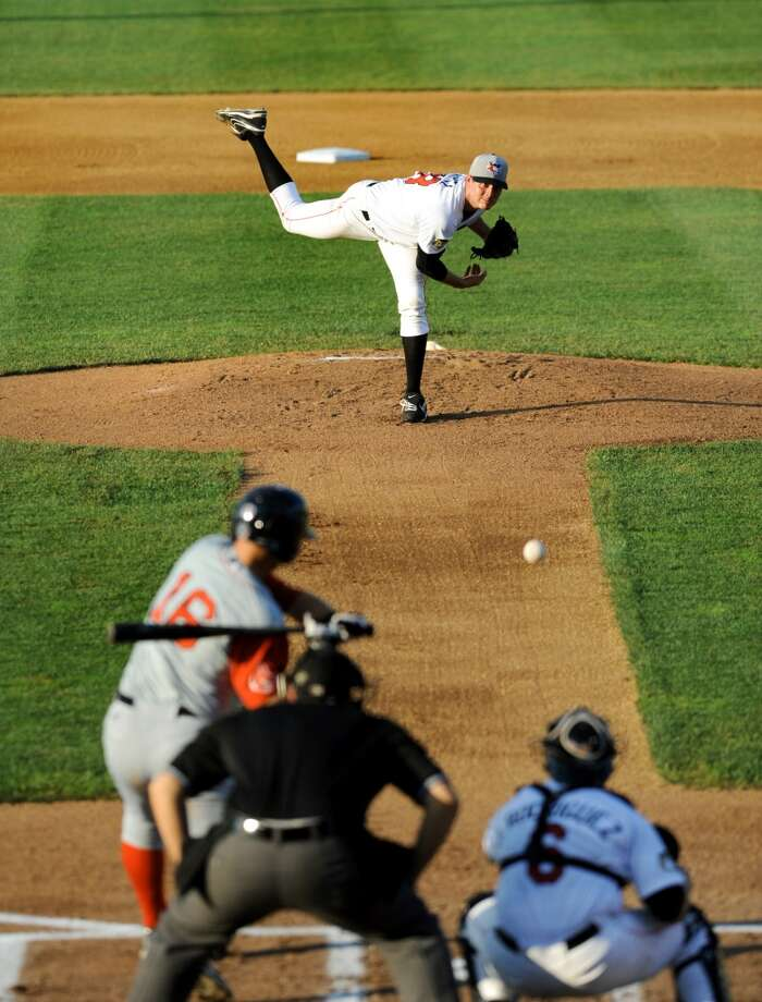 ValleyCats pitcher Mark Appel, the No. 1 pick in the 2013 baseball draft, releases the ball during their game against Lowell Spinners on Friday, July 5, 2013, at Bruno Stadium in Troy, N.Y. (Cindy Schultz / Times Union) Photo: Cindy Schultz, Albany Times Union