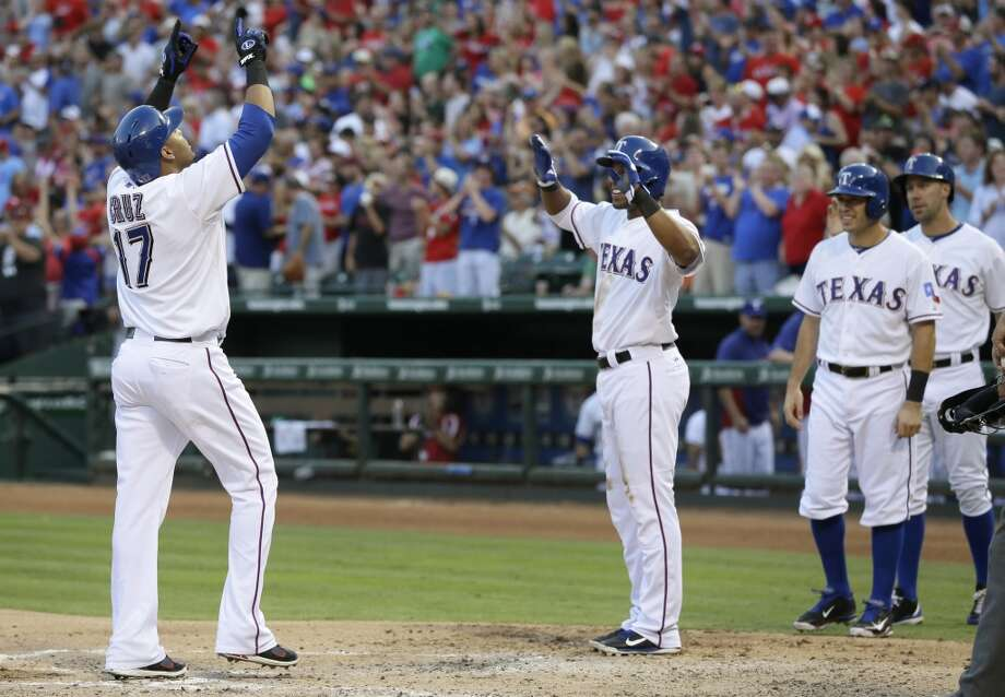 July 5:  Rangers 10, Astros 5 Nelson Cruz's grand slam helped lead the Rangers past the Astros in the opening game of the three-game series.  Record: 31-56. Photo: Tony Gutierrez, Associated Press