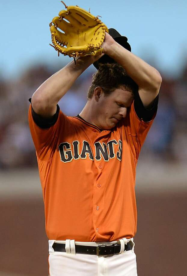 Matt Cain gave up more runs (eight) than he recorded outs (seven). Photo: Thearon W. Henderson, Getty Images